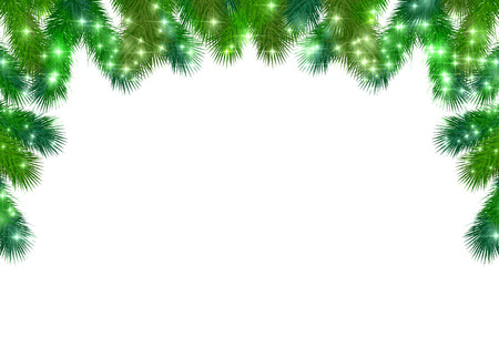 Christmas fir tree background 版權商用圖片 - 46317226