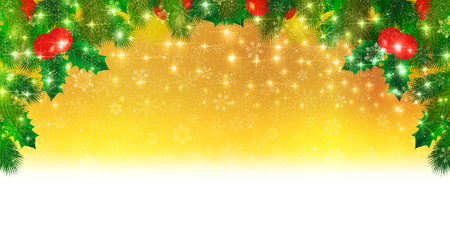 christmas snow: Snow Christmas holly Illustration