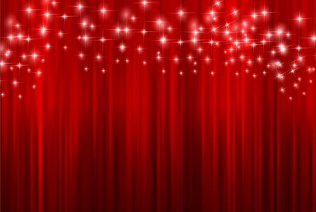 curtains: Curtain curtain background Illustration