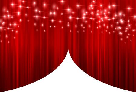 curtain background: Curtain curtain background Illustration