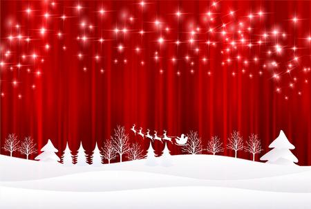 Christmas Santa background Ilustração