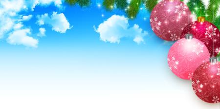 Christmas fir tree decoration