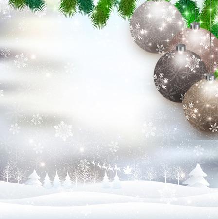 christmas snow: Christmas Santa snow