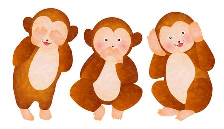 primate: Cute monkey greeting cards
