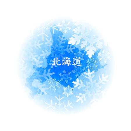 hokkaido: Crystal of Hokkaido snow snow Illustration