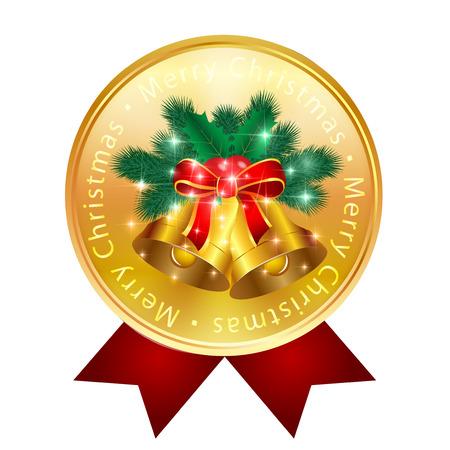 fir trees: Christmas bell fir trees medal