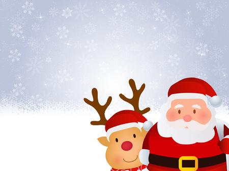 クリスマス サンタ雪背景