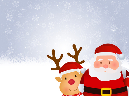 Christmas Santa snow background Illustration