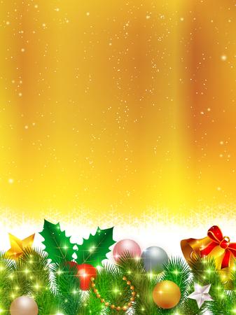 fir: Christmas fir tree snow background
