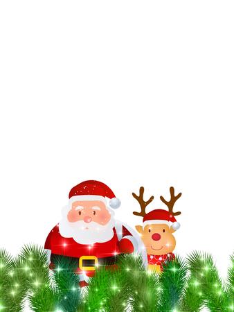 christmas snow: Christmas Santa snow background Illustration