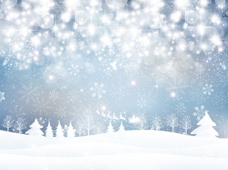 christmas snow: Snow Christmas Santa background