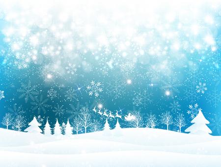 雪クリスマス サンタ背景