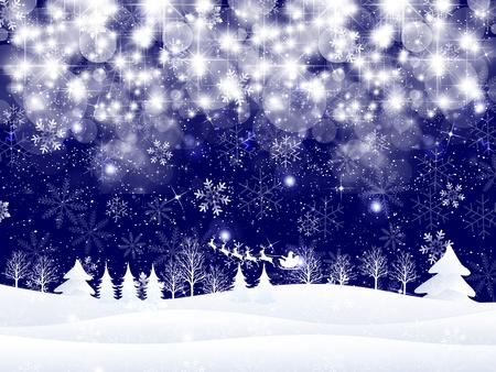 눈 크리스마스 산타 배경