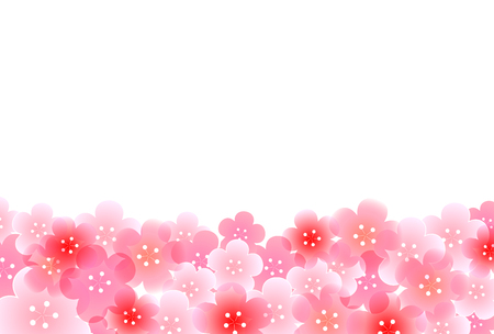 pink flower background: Plum New Years card background