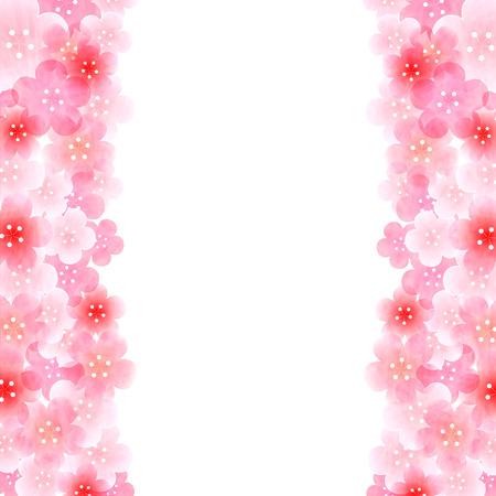 梅の新年のカード背景