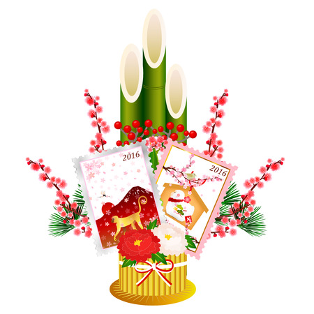 ema: Monkey Kadomatsu New Years card icon