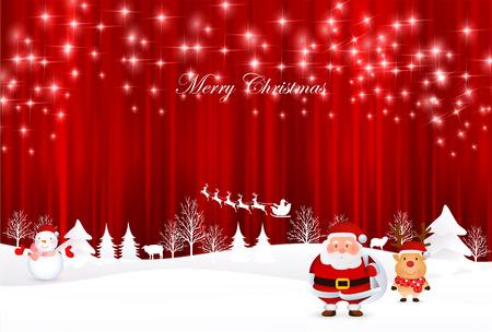 クリスマス サンタ トナカイ背景