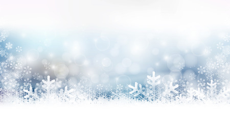 Snow Christmas winter background