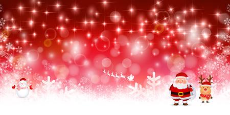 christmas snow: Snow Christmas Santa background