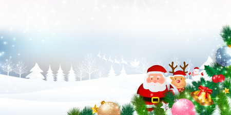 christmas snow: Christmas snow Santa background