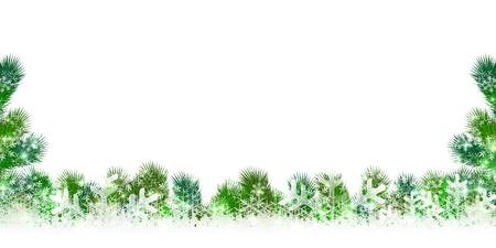 fir trees: Christmas snow fir trees background