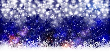 christmas snow: Snow Christmas light background