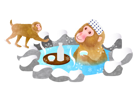 openair: Monkey liquor Hot Springs New Years card