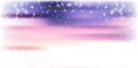 stars sky: Snow Christmas winter background