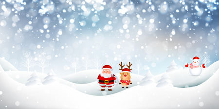snowman vector: Snow Christmas Santa background