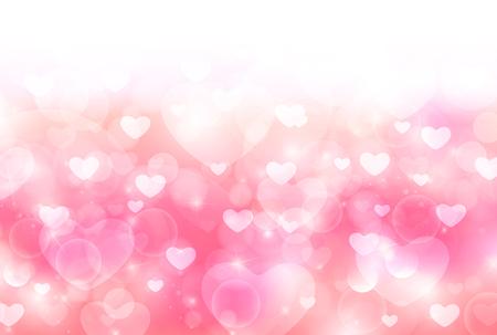 Valentine Heart cute background 일러스트