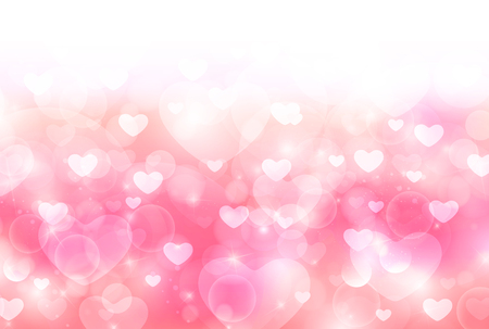 light pink: Valentine Heart cute background Illustration