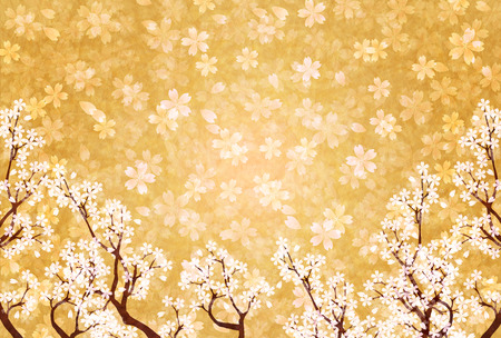 春和紙桜背景