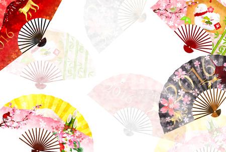 sho: Monkey Fuji New Years card background