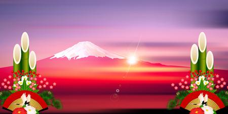 a sense of: Fuji Sunrise New Year background