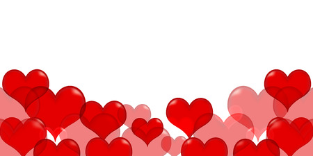 バレンタイン ハート赤背景