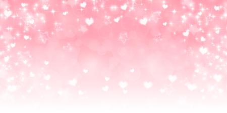 Hart van de valentijnskaart roze achtergrond