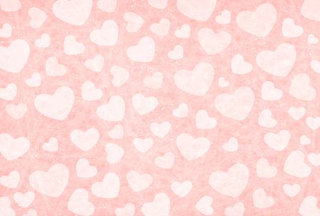 paper heart: Valentine Heart pink background