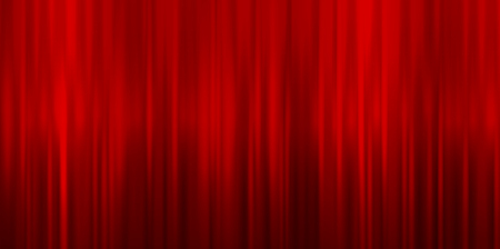 red silk: Valentine curtain red background Illustration