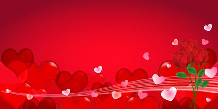 rose: Valentine Heart rose background Illustration