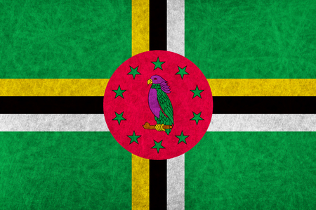 dominica: Dominica national flag country flag Illustration