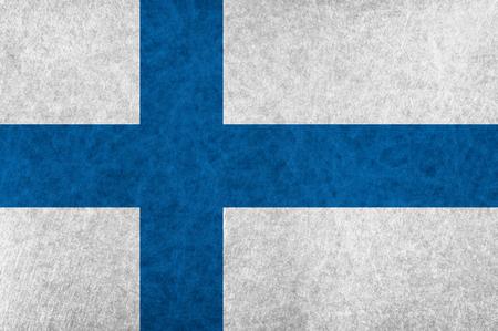 Finland national flag country flag Illustration