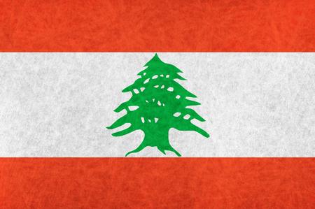 lebanon: Lebanon national flag country flag Illustration