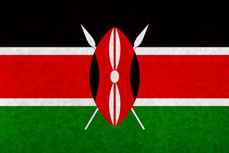 kenya: Kenya national flag country flag Illustration