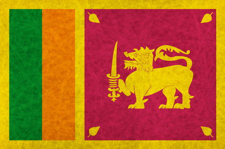 スリランカ国旗国旗  イラスト・ベクター素材