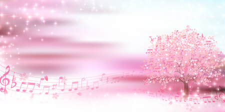 Spring cherry notes background