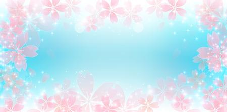 cerisier fleur: Spring cherry blossom background Illustration