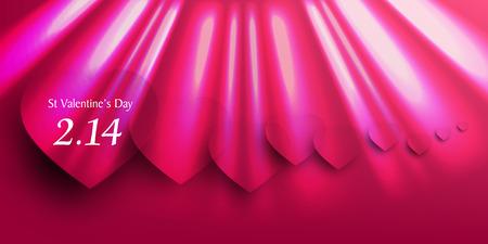 curtain background: Valentine Heart curtain background