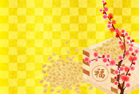 plum: Setsubun beans plum background