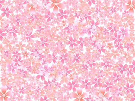 patrones de flores: Primavera de fondo de flor de cerezo Vectores