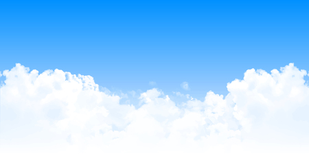 Sky clouds landscape background Illustration